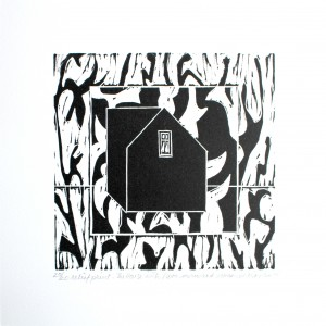 The House with flora man and woman-relief print-2014